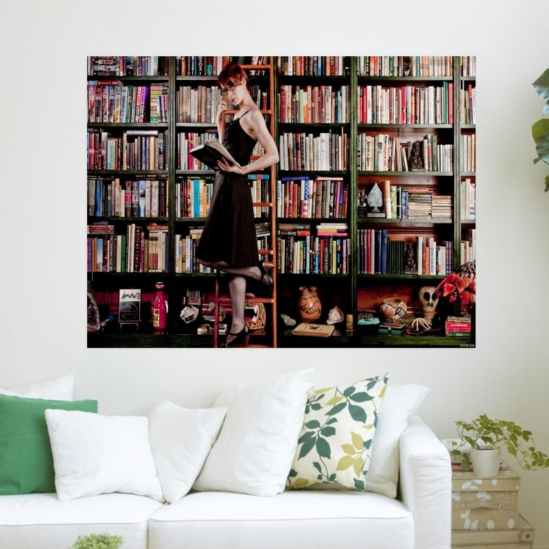 The Librarian  Art Poster Print  24x18 inch