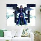 3d Fantasy Angel  Art Poster Print  24x18 inch