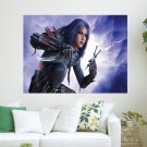 Fantasy Girl Assassin  Art Poster Print  24x18 inch
