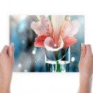 Man Made Flower  Art Poster Print  24x18 inch