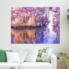 Water Reflection  Art Poster Print  24x18 inch