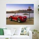 Classic Red Car  Art Poster Print  24x18 inch