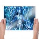 Ice Queen  Art Poster Print  24x18 inch