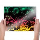 Colorful Party  Art Poster Print  24x18 inch