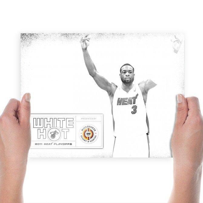 Dwyane Wade Heat Nba Finals  Art Poster Print  24x18 inch
