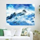 Skiing On White Mountain  Art Poster Print  24x18 inch
