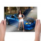 What Are You Choose The Woman Or The Car  Art Poster Print  24x18 inch