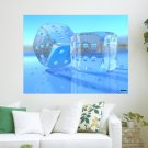 Ice Dice  Art Poster Print  24x18 inch