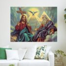 Blessed Trinity One God  Art Poster Print  24x18 inch