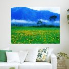Wild Lily Meadow  Art Poster Print  24x18 inch