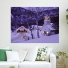 A Country Christmas S Art Poster Print  24x18 inch