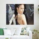 Megan Fox Back  Art Poster Print  24x18 inch