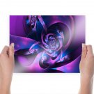 Pink And Purple  Art Poster Print  24x18 inch