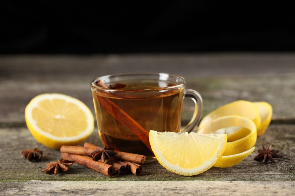Cup Of Tea Cinnamon Lemon Poster 36x24 inch (91x61 cm)