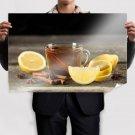 Cup Of Tea Cinnamon Lemon Poster 36x24 inch (91x61 cm)