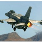 F 16 Fighting Falcon USAF Aircraft Art Poster Military Fans 32x24