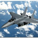 F 15 Eagle Fighter Aircraft Military Art Poster 32x24