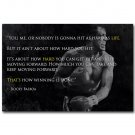 Rocky Balboa Inspirational Motivational Movie Quotes Poster 32x24