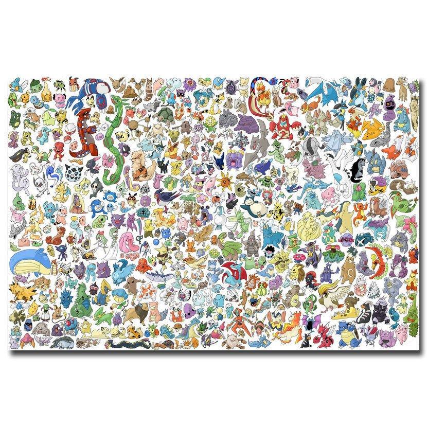 Pokemon Pikachu Anime Art Poster Pictures 32x24