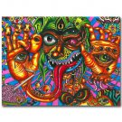 Psychedelic Trippy Eye Face Abstract Art Poster 32x24