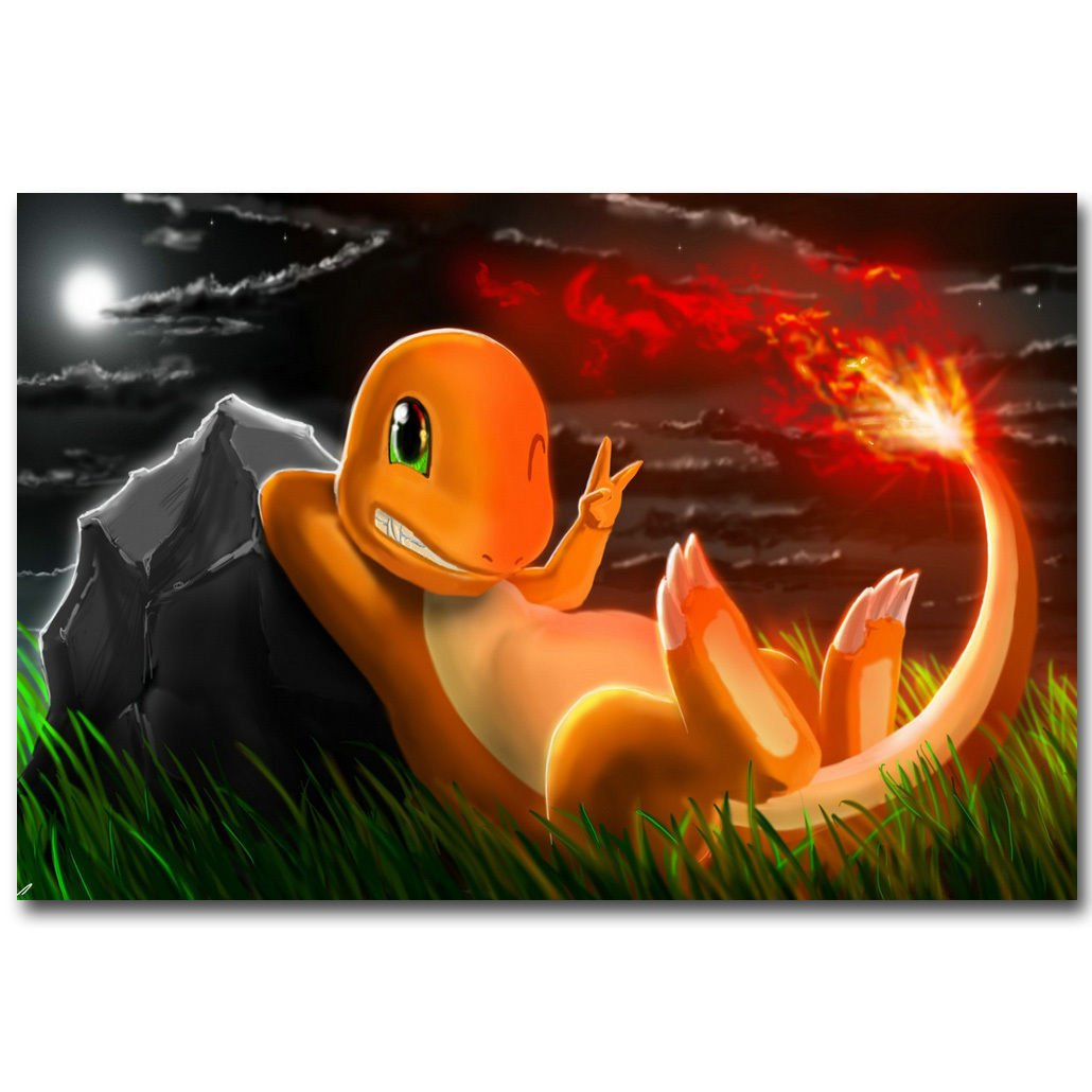 Charmander Pokemon GO All Monster Anime Art Poster 32x24