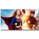 Supergirl And The Flash TV Series Poster Superheroes Print 32x24