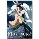 Princess Mononoke Japanese Anime Fabric Poster 32x24