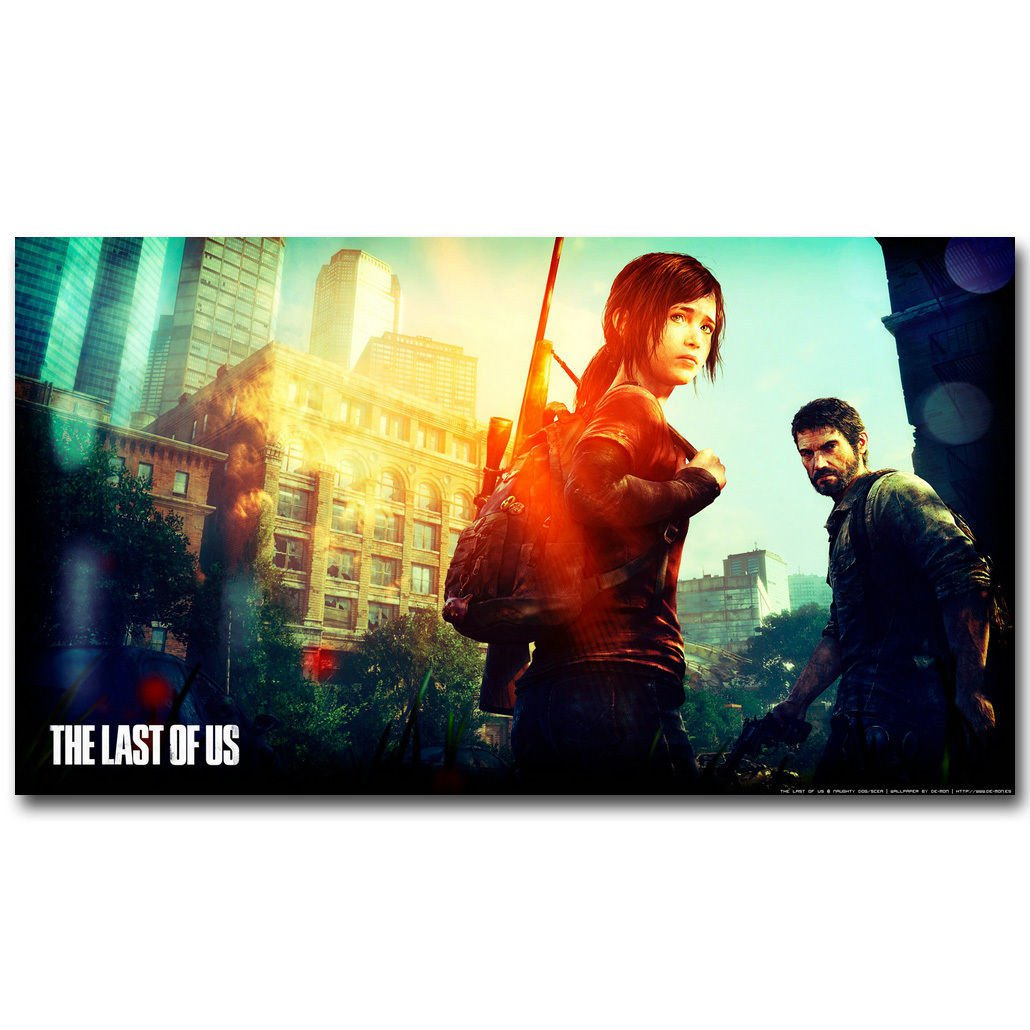 The Last Of Us Hot Games Fabric Poster Print Ellie Joel 32x24