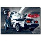 Kung Fury Movie Art Fabric Poster Car Girl 32x24
