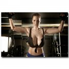 Bodybuilding Motivational Poster Print Hot Sexy Fitness Girl 32x24