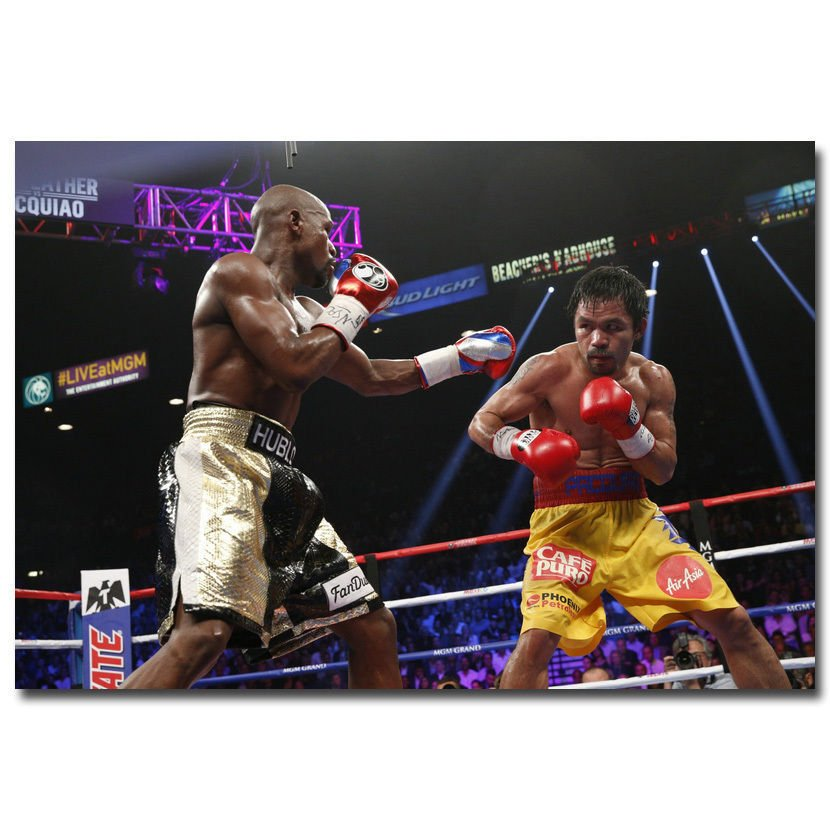 Manny Pacquiao V Floyd Mayweather Boxing Poster Print 32x24