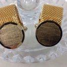 Vintage Anson Gold Tone Mesh Wrap-A-Round Cufflinks