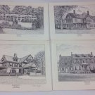 Set of 4 International Archives Presidents Homes Prints Sealed And Signed