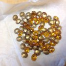 Vintage Jeweler Stock Foiled Imitation Stones Oval Topaz