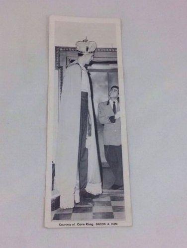 Henry Hite WORLDS TALLEST MAN Vintage Promotional Photo Card Corn King Giant