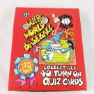 1976 THE WEIRD WORLD OF BASEBALL BOX 36 PACKS QUIZ CARD WITH RETAIL DISPLAY SIGN