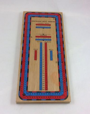 Vintage Continuous Track Cribbage Board