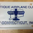 Vintage Antique Airplane Club Of Connecticut Inc License Plate Helicopter Port