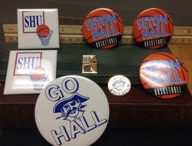 Vintage Seton Hall Pin Lot Basketball College Sports New Jersey PIRATES Big East