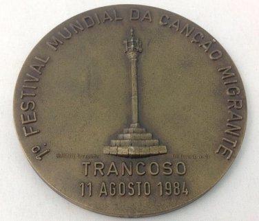 Commemorative Medal World Festival Of Migrant Song 1984 Trancoso Brazil Num 280