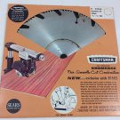 Sears Craftsman Kromedge Free And Smooth  Cut Combination Blade 10""