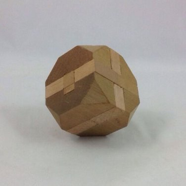 Vintage Handmade Wooden Toy From Cape Cod Bird Carver Cube Puzzle Game