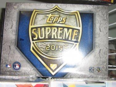 2015 Topps Supreme Baseball Hobby Box