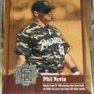 2001 SP Game Bat Milestone Phil Nevin