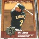 2001 SP Game Bat Milestone Eric Chavez