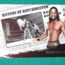 KOFI KINGSTON 2010 Topps WWE History Of #17