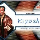 KIYOSHI - 2009 TRISTAR TNA Impact BLUE Autograph #12 of 25 made wwe