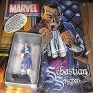 SEBASTIAN SHAW - Classic Marvel Figurine Collection Lead Figure Eaglemoss #181