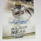 2015 Panini Player of the Day Autograph Rajion Neal - Packers