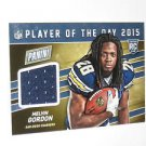 2015 Panini Player of the Day Jersey Melvin Gordon Rookie Card